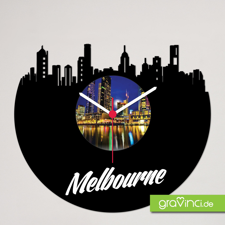 Melbourne Schallplattenuhr