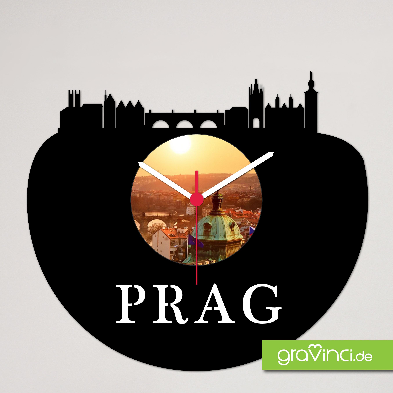 Prag Schallplattenuhr